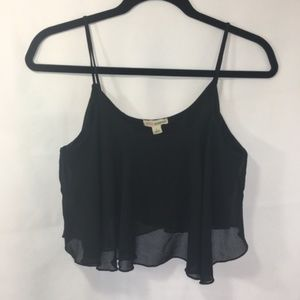 Zenana Outfitters Large Black Cropped Tank